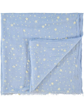 Large Aqua Star Print Kitchen Cloth by Wesco