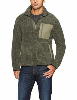 Woolrich Men's Glacier View Sherpa Fleece Half Zip by Woolrich