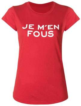 Zadig&Voltaire Je M'en Fous T Shirt Home Women Zadig&Voltaire Clothing T Shirts & Jersey Shirts Friendship Pendant Stove Pipe 27 High Waisted Straight Leg Cropped Jeansbrown And Black Rylee 80 Snakeskin Effect Leather Boots Je M'en Fous T Shirt by Zadig&Voltaire