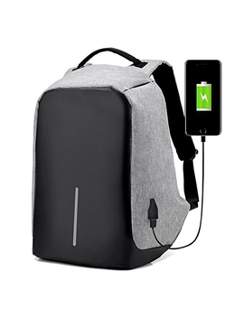 Anti Theft With Usb Charging Port / Light Weight Student Functional Business Laptop Backpack For Men / Women  Gray by Best Buy