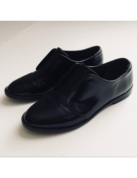 Steve Madden Black Velcro Oxford Dress Shoes Sz 7 by Steve Madden