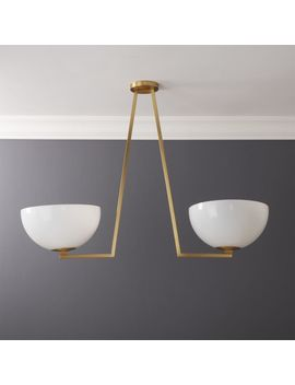 Aubrey Brass Chandelier by Crate&Barrel