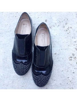 Bcbg Max Azria Black Studded Oxford Cap Toe Shoes by Bcbg Max Azria