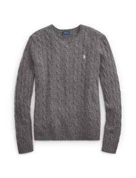 Cable Wool Crewneck Jumper by Ralph Lauren