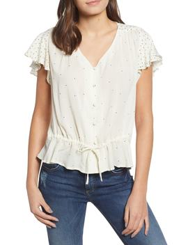 It Girl Flutter Sleeve Top by Lucky Brand