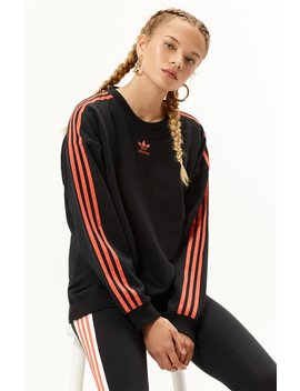 Orange Stripe Pullover Sweatshirt by Adidas