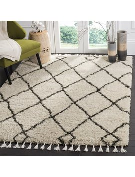 Safavieh Moroccan Fringe Lavern Geometric Shag Area Rug Or Runner by Safavieh