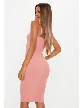 Blush Strappy Cami Midi Dress by Missguided