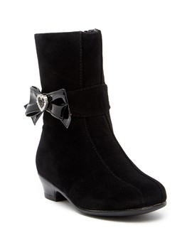 Lil Juliet Embellished Bow Accented Dress Boot (Toddler & Little Kid) by Rachel Shoes
