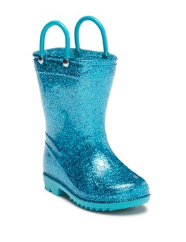 Aqua Glitter Rainboot (Toddler) by Lilly Of New York