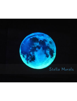 Moon Decal (Large) | Glow In The Dark Star Ceiling / Star Wall | Three Shooting Stars | 200   1000 Realistic Star Stickers by Stella Murals