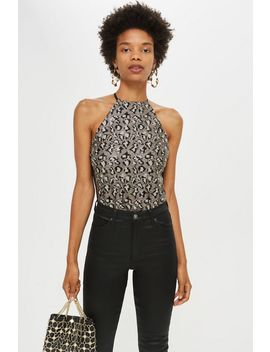 Leopard Print Sequin Body by Topshop