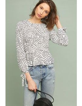 Dotty Ruffled Blouse by Kachel