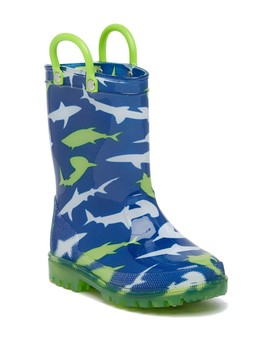 Sharks Light Up Rainboot (Toddler) by Lilly Of New York