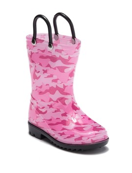 Camo Printed Light Up Rainboot (Toddler) by Lilly Of New York