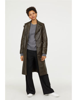 Leather Coat by H&M