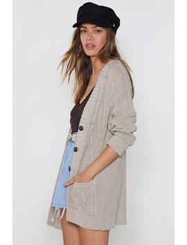 Be Done With Knit Cable Cardigan by Nasty Gal
