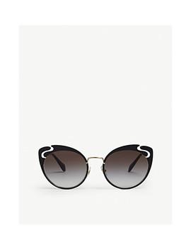 0 Mu 57 Ts Butterfly Sunglasses by Miu Miu