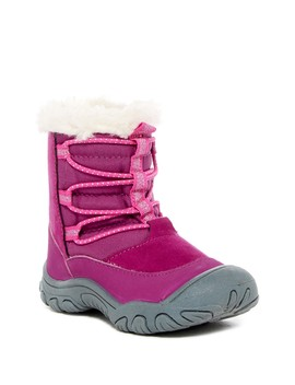 Coraline Faux Fur Trimmed Lace Boot (Toddler & Little Girls) by M.A.P.