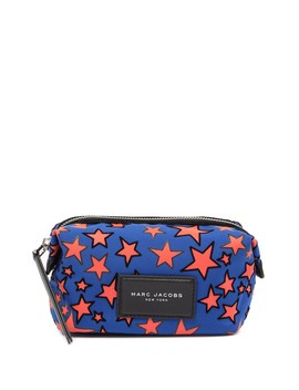 Flocked Stars Printed Biker Cosmetics Case by Marc Jacobs