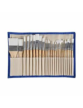 Conda 24 Pcs Chip Paint Brushes Set Professional Brush With Case For Acrylic Watercolor Oil Painting by Conda
