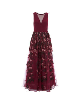 Burgundy Maxi Dress by Nightway