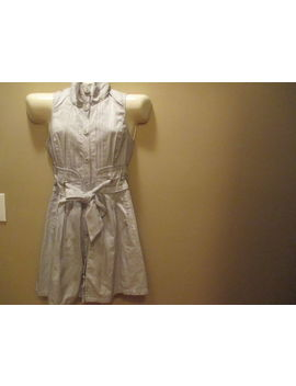 Arden B Button Up Sleeveless Dress Size Medium Silver Lace Up Back by Arden B
