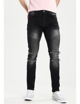 Skinny Biker   Jeans Slim Fit by Liquor N Poker