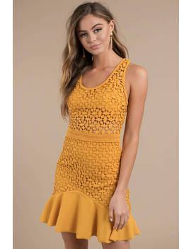 Stylestalker Solana Yellow A Line Dress by Tobi