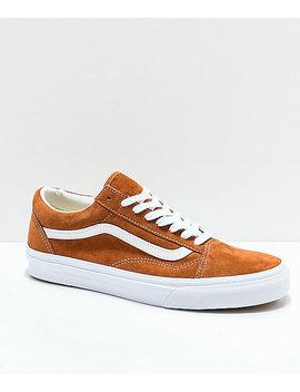 Vans Old Skool Brown Pig Suede Skate Shoes by Vans