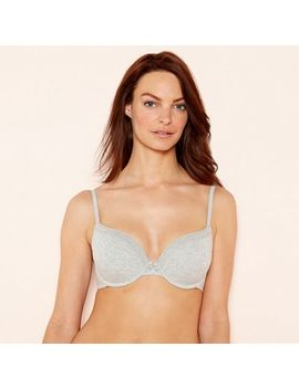 The Collection   2 Pack Grey And White Cotton Blend Underwired Padded T Shirt Bra by The Collection