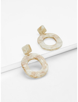 Geometric Design Stone Earrings by Sheinside