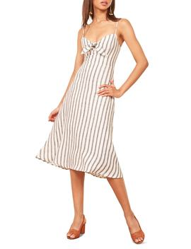 Clara Ticking Stripe Linen Sundress by Reformation