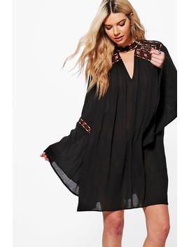 Alivia Embroidered Swing Dress by Boohoo