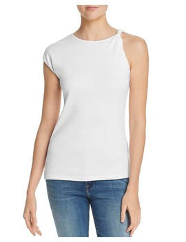 Twist Detail Asymmetric Tee by Frame