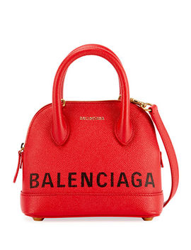 Ville Xxs Pebbled Leather Top Handle Tote Bag by Balenciaga