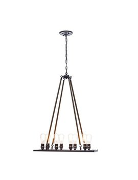 Globe Electric 60 Watt 8 Light Oil Rubbed Bronze Twine Wrapped Vintage Chandelier by Globe Electric Company