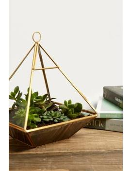 Pyramidenförmiges Terrarium Aus Messing by Urban Outfitters