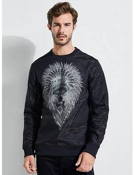 Luther Wolf Crew Sweatshirt by Guess