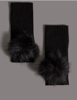 Pure Cashmere Hand Warmer Gloves by Marks & Spencer