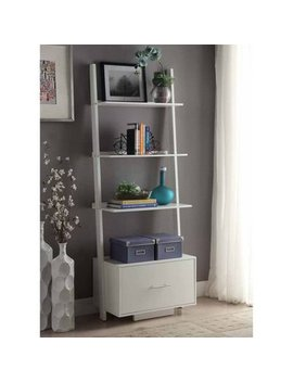Convenience Concepts American Heritage Ladder Bookcase With File Drawer by Convenience Concepts