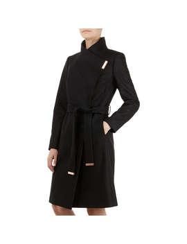 Ted Baker Sandra Wrap Coat, Black by Ted Baker