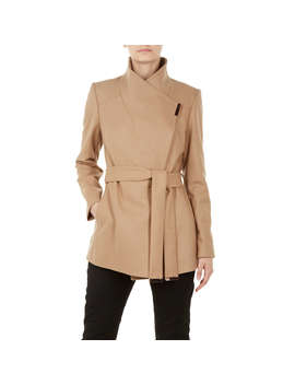 Ted Baker Rytaa Wrap Coat, Brown Camel by Ted Baker