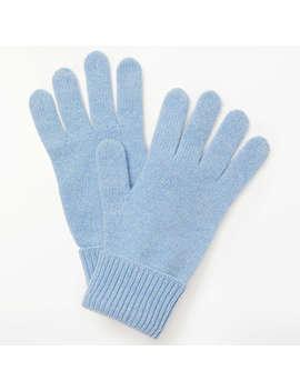 John Lewis Cashmere Gloves, Light Blue by John Lewis