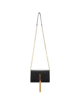 Black Kate Wallet Chain Tassel Bag by Saint Laurent