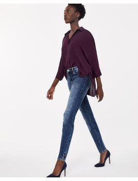 Le Jeans Insider Skinny à Délavé Moyen Et Barbelles by Reitmans