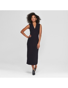 Women's Sleeveless Button Knit Midi Dress   Who What Wear™ Black by Shop All Who What Wear
