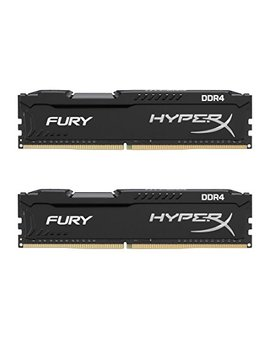 Hyper X Hx424 C15 Fbk2/8 Fury 8 Gb Ddr4 2400 M Hz Memory Kit (2 X 4 Gb) (Skylake Ready), Black by Hyper X