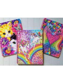 "Lisa Frank Retro Glitter Spiral Notebook 8x10.5"" ~ You Pick ~ Multiship Discount by Lisa Frank"