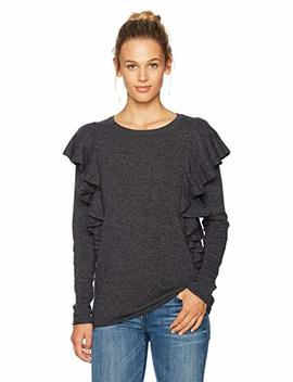 Ella Moon Women's Fischer Long Sleeve Ruffle Sweater by Ella+Moon